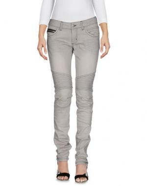 Джинсовые брюки POORICH. Цвет: светло-серый