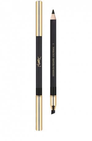 Водостойкий карандаш для глаз Dessin Du Regard, 01 Noir Volage YSL. Цвет: бесцветный