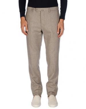 Повседневные брюки G.T.A. MANIFATTURA PANTALONI. Цвет: светло-серый