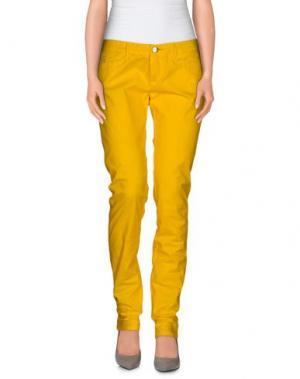 Повседневные брюки D-21. Цвет: желтый
