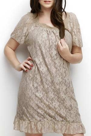 Платье Zer otantik. Цвет: бежевый