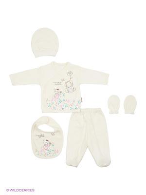 Комплект Bebitof Baby. Цвет: молочный, розовый
