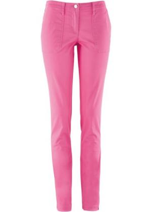 Прямые брюки с накладными карманами (ярко-розовый фламинго) bonprix. Цвет: ярко-розовый фламинго