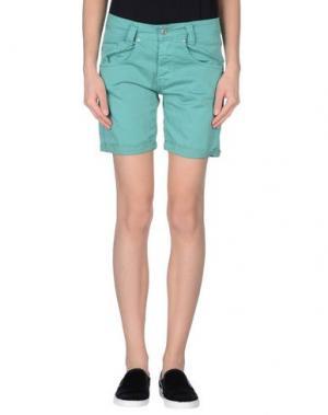 Повседневные шорты PLEASE. Цвет: зеленый