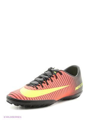 Шиповки MERCURIALX VICTORY VI TF Nike. Цвет: красный, черный