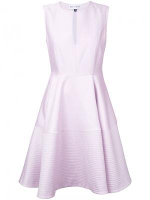 Расклешенное платье без рукавов Dice Kayek. Цвет: розовый и фиолетовый
