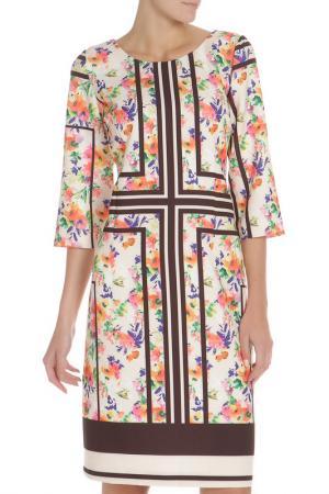 Платье с цветочным принтом Evita. Цвет: black, черный