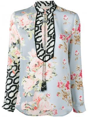 Блузка с цветочным принтом Amen. Цвет: многоцветный