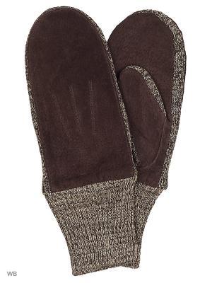 Варежки Malgrado. Цвет: коричневый, серый