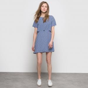 Платье 2 в 1 с геометрическим рисунком MOLLY BRACKEN. Цвет: синий/наб. рисунок
