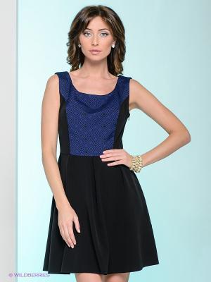 Платье Capriz. Цвет: черный, синий