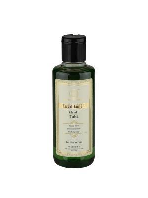 Масло Тулси для роста волос Khadi Natural. Цвет: зеленый