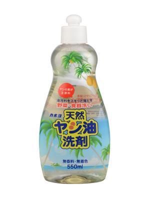 Жидкость для мытья посуды, овощей и фруктов KANEYO с натуральным пальмовым маслом 550 мл. Цвет: белый