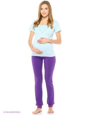Брюки для беременных Hunny Mammy. Цвет: фиолетовый