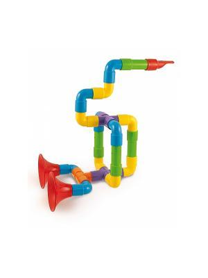 Набор Супер Саксофлейта из 24 элементов для создания духового музыкального инструмента. Quercetti. Цвет: зеленый, красный, желтый, белый, черный, синий