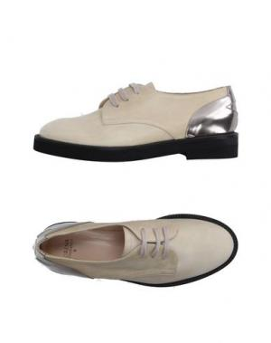 Обувь на шнурках LORENA ANTONIAZZI. Цвет: бежевый