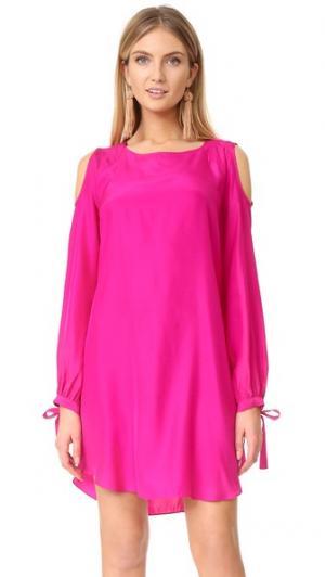 Платье Sullivan Amanda Uprichard. Цвет: клюквенный