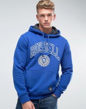 Russell Athletic Худи с логотипом Rosette. Цвет: синий