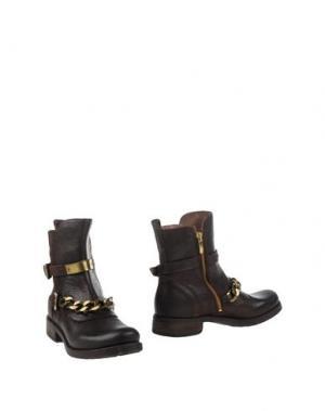 Полусапоги и высокие ботинки MANILA GRACE DENIM. Цвет: темно-коричневый