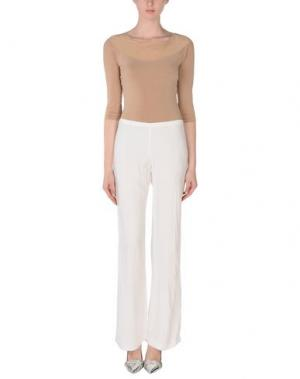 Повседневные брюки MARIA GRAZIA SEVERI. Цвет: белый