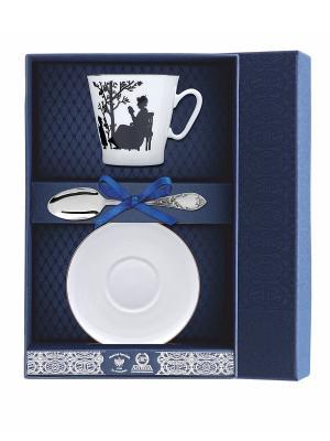 Набор кофейный Черный кофе-Семья 3 предмета + футляр АргентА. Цвет: серебристый