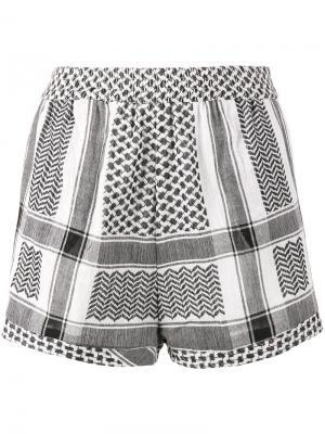 Короткие шорты Keffiyeh Cecilie Copenhagen. Цвет: чёрный