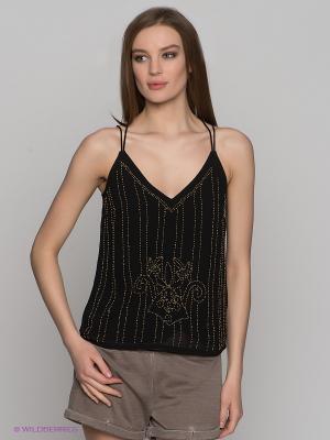 Топ Vero moda. Цвет: черный, бронзовый