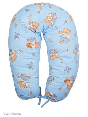 Подушка для беременных и кормящих ФЭСТ. Цвет: голубой, бежевый