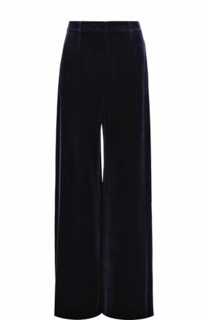 Бархатные расклешенные брюки Roland Mouret. Цвет: синий