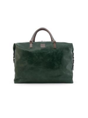 Дорожная сумка IGOR YORK. Цвет: зеленый, коричневый