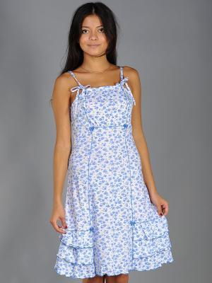 Сорочка ночная Тефия. Цвет: синий, зеленый, голубой, белый