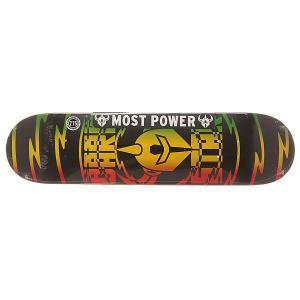 Дека для скейтборда  S6 Rhm Shock V2 Rasta 31.2 x 7.75 (19.7 см) Darkstar. Цвет: черный,желтый,красный,зеленый