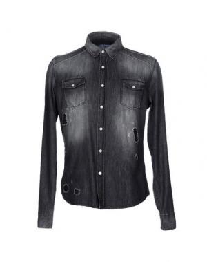 Джинсовая рубашка FIFTY FOUR. Цвет: серый