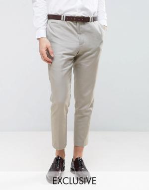 Noak Суженные книзу льняные брюки. Цвет: светло-серый