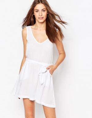 Phax Пляжное платье с завязкой. Цвет: белый