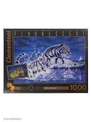 Итальянский пазл Clementoni. Флуоресцентный. Кентаро Нишино Прыжок тигра. Clementoni. Цвет: белый, синий, красный