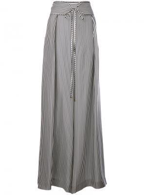 Полосатые брюки палаццо Zimmermann. Цвет: синий