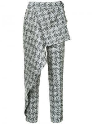 Парчовые брюки West End в ломаную клетку Bianca Spender. Цвет: многоцветный