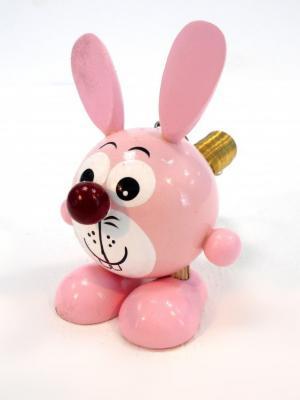 Игрушка подвеска на пружине - Зайчик розовый Taowa. Цвет: розовый