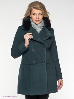 Пальто Klimini. Цвет: темно-зеленый