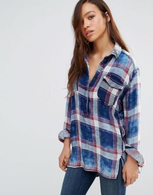 BLANK NYC Рубашка в клетку. Цвет: мульти