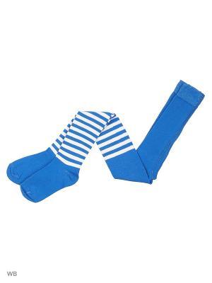 Колготки K&R BABY. Цвет: голубой, белый