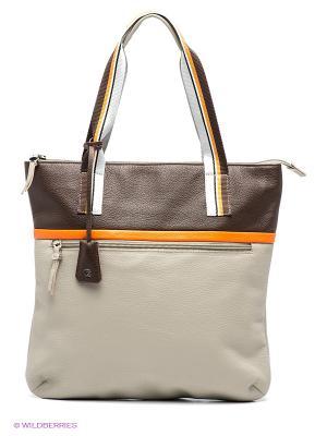 Сумка Pimo Betti. Цвет: серый, белый, коричневый, оранжевый