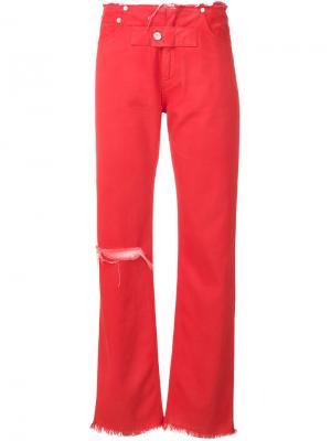 Широкие брюки Alyx. Цвет: красный