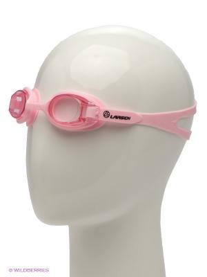 Очки плавательные Larsen. Цвет: розовый