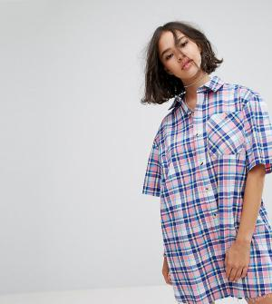 Reclaimed Vintage Платье-рубашка Inspired. Цвет: мульти
