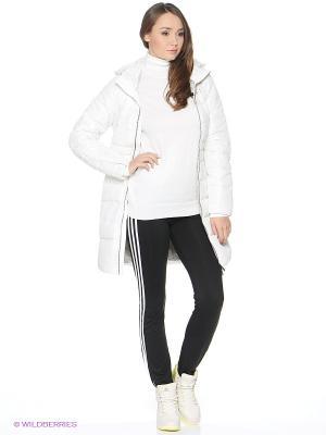 Пальто Adidas. Цвет: белый