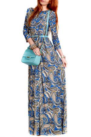 Платье FRANCESCA LUCINI. Цвет: анталия, экрю