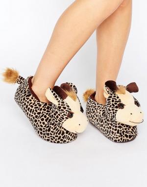 Loungeable Слиперы-жирафы Gina. Цвет: оранжевый