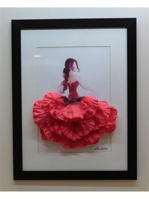 Картина из цветов Интерьерный штрих. Цвет: красный, розовый, терракотовый